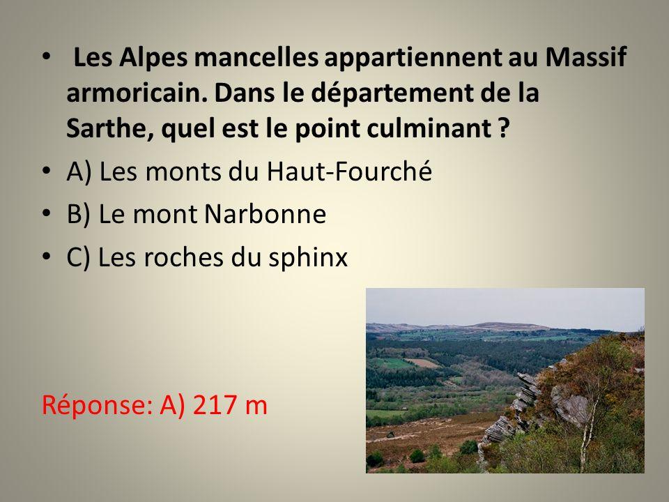 Les Alpes mancelles appartiennent au Massif armoricain.