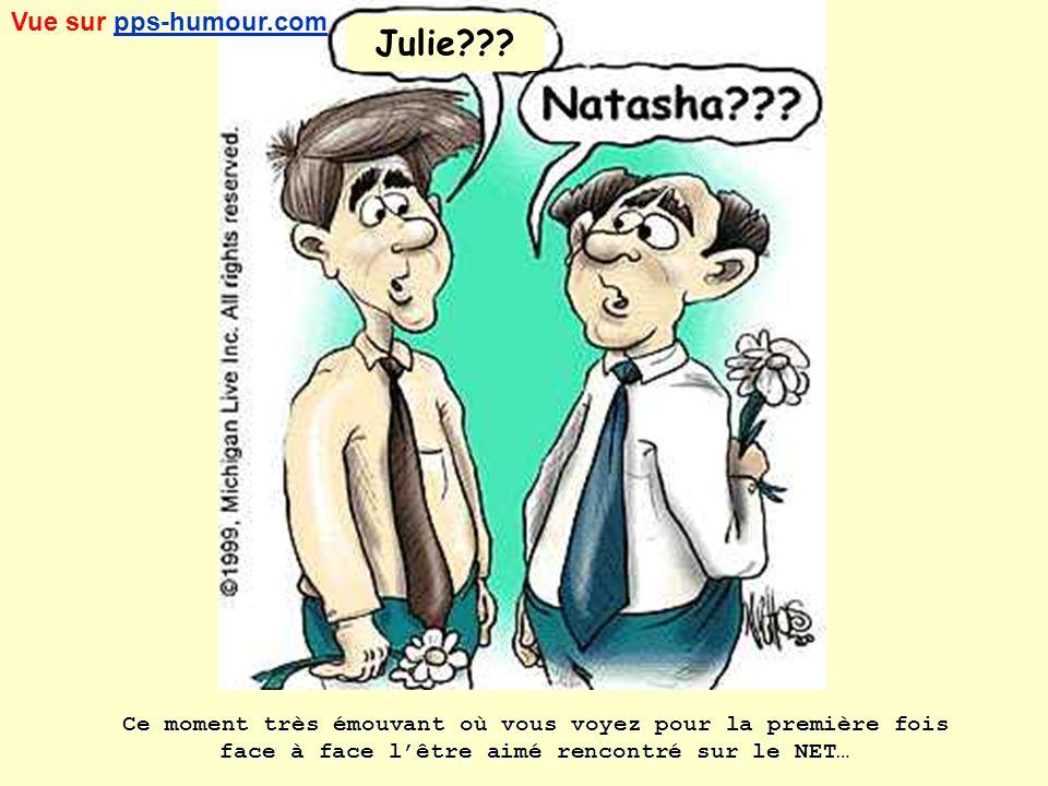 Ce moment très émouvant où vous voyez pour la première fois face à face lêtre aimé rencontré sur le NET… Julie??.