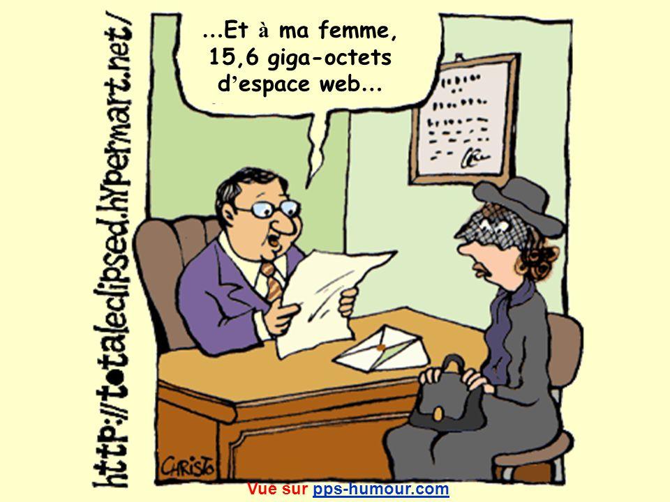 … Et à ma femme, 15,6 giga-octets d espace web … Vue sur pps-humour.compps-humour.com