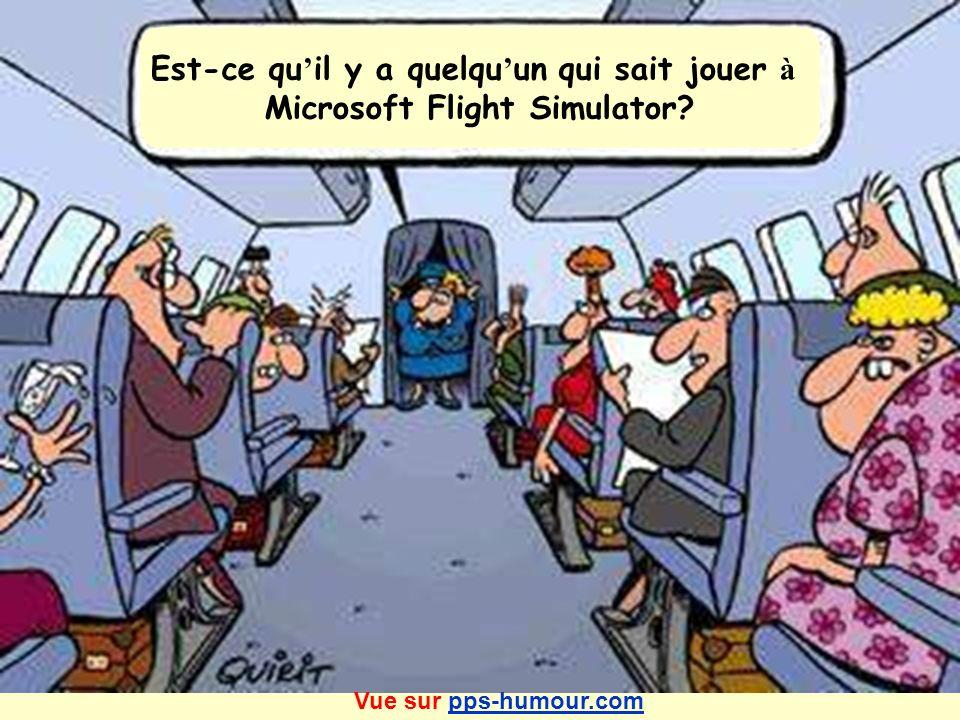 Est-ce qu il y a quelqu un qui sait jouer à Microsoft Flight Simulator? Vue sur pps-humour.compps-humour.com