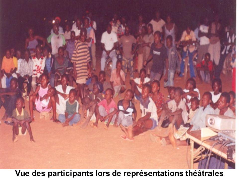 Vue des participants lors de représentations théâtrales
