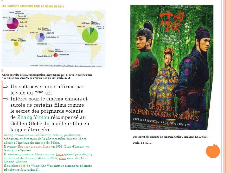 Photographie extraite du manuel Hatier Terminale ES/L p 243, Paris, Ed. 2012. Carte extraite de la Documentation Photographique, n°8093, Xavier Paulès