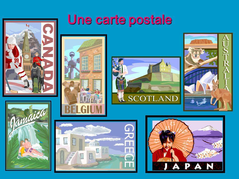 Une carte postale