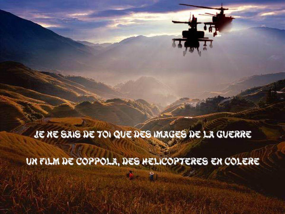 Je ne sais de toi que des images de la guerre Un film de Coppola, des hélicoptères en colère