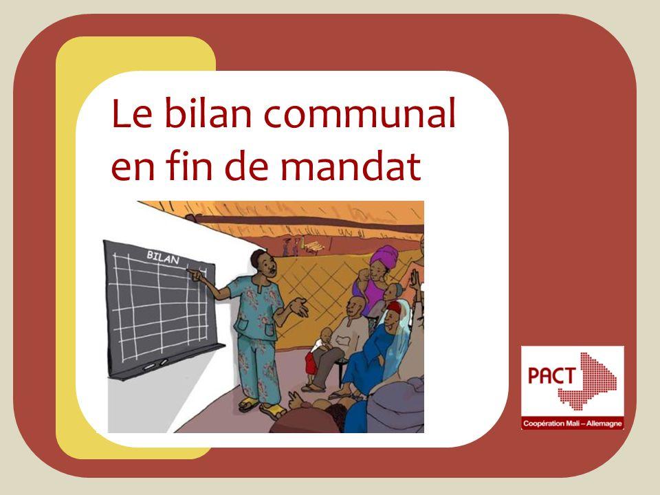 Le bilan communal en fin de mandat