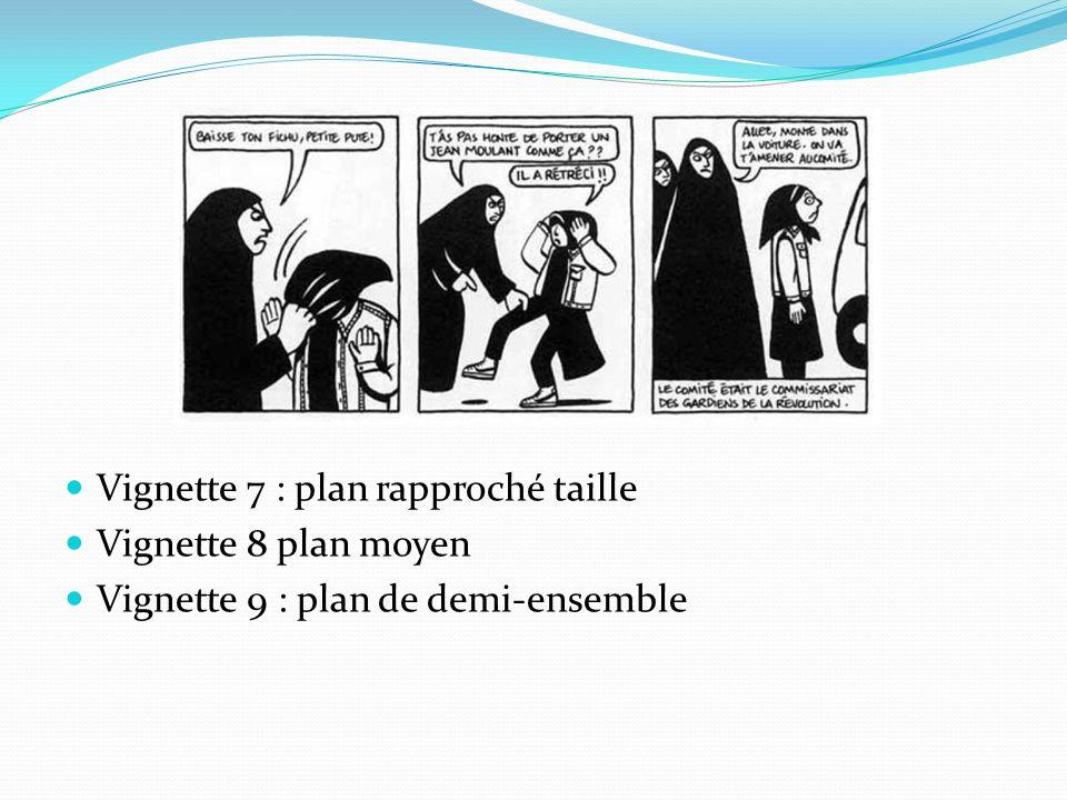 Vignette 7 : plan rapproché taille Vignette 8 plan moyen Vignette 9 : plan de demi-ensemble