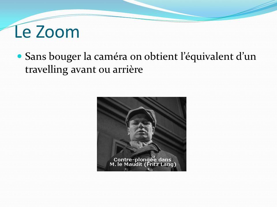 Le Zoom Sans bouger la caméra on obtient léquivalent dun travelling avant ou arrière