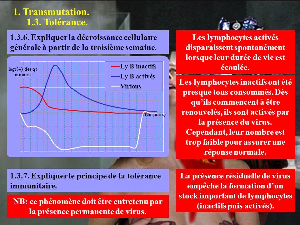 1.Transmutation. 1.3. Tolérance. 1.4.1. Quel est le rôle du thymus dans l immunité tissulaire.