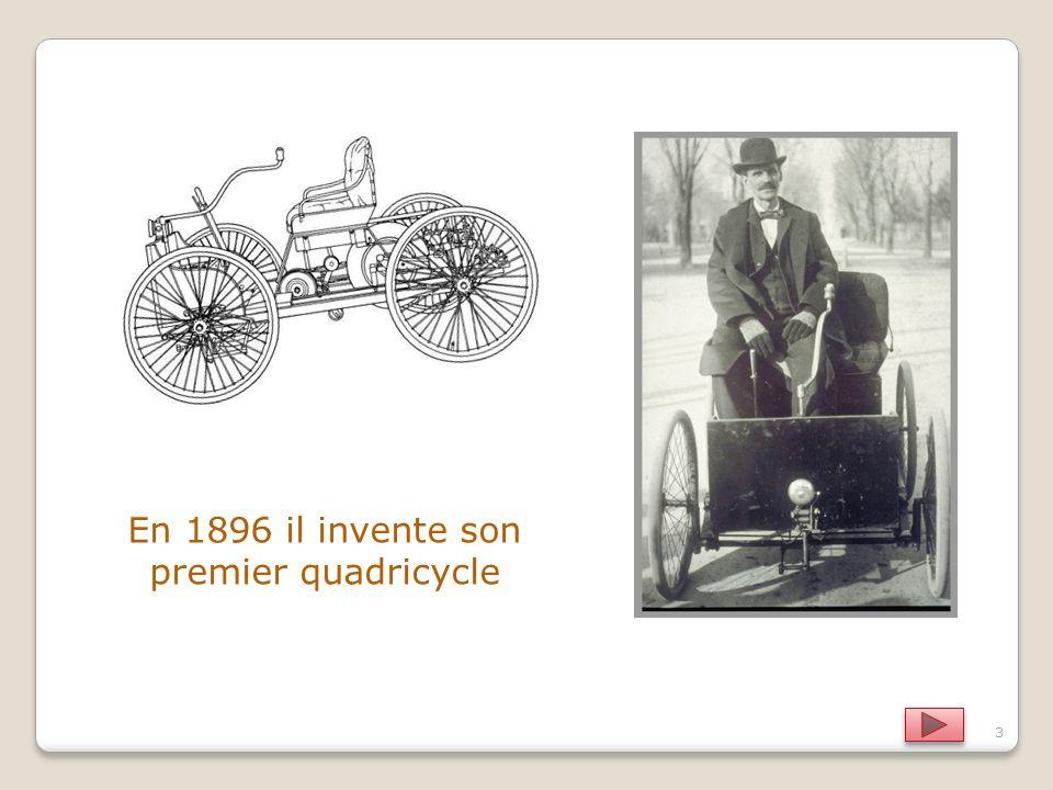 En 1896 il invente son premier quadricycle 3