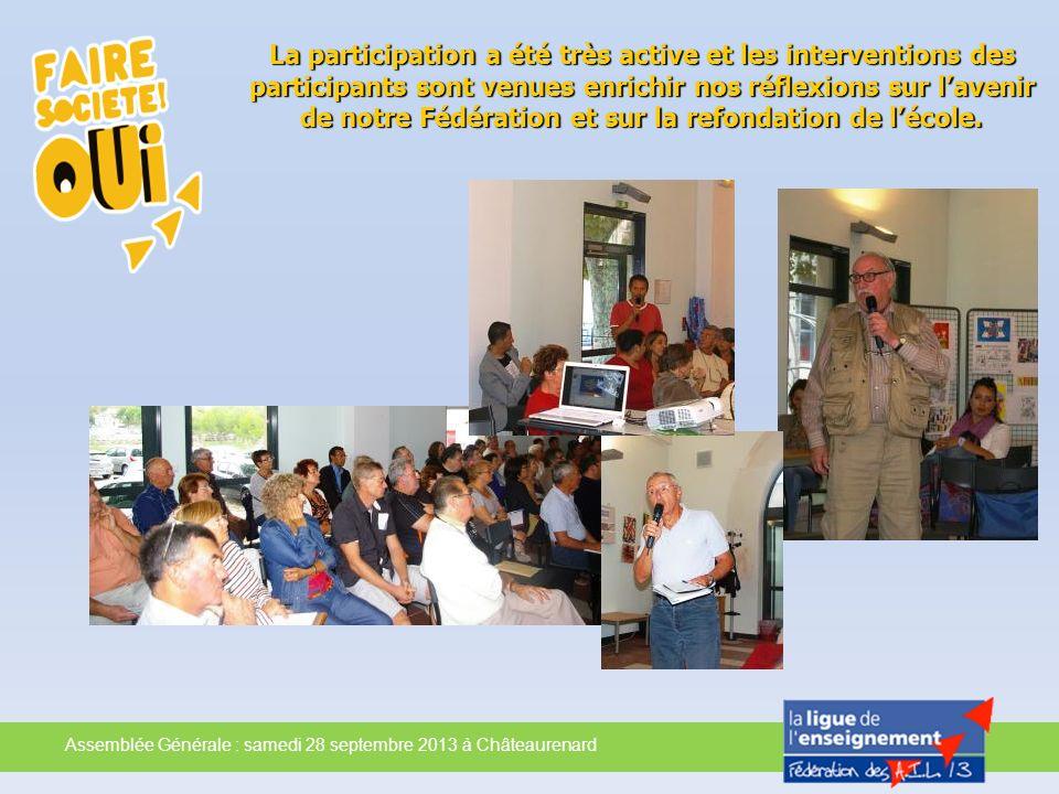 La participation a été très active et les interventions des participants sont venues enrichir nos réflexions sur lavenir de notre Fédération et sur la
