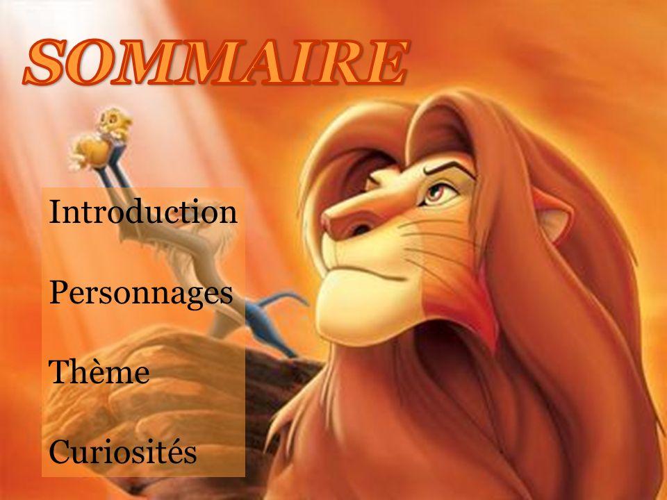 Introduction Personnages Thème Curiosités