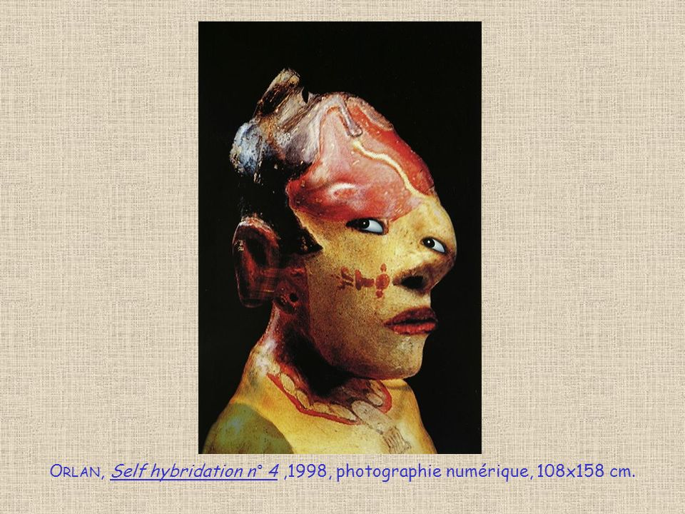 O RLAN, Self hybridation n° 4,1998, photographie numérique, 108x158 cm.