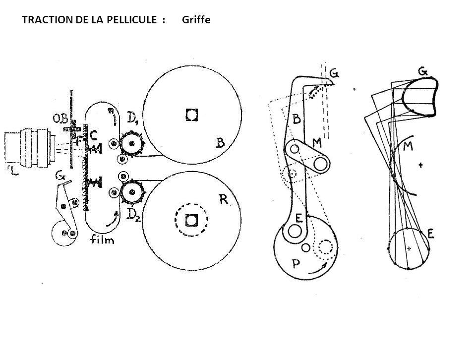 TRACTION DE LA PELLICULE : Griffe