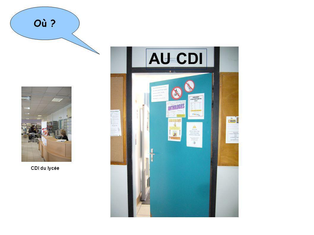 Où ? CDI du lycée Médiathèque J.J Rousseau 6 place Lénine Bibliothèque A. Malraux 3 mail Rodin Bibliothèque G. Philipe 54 bd du château Mais aussi AU