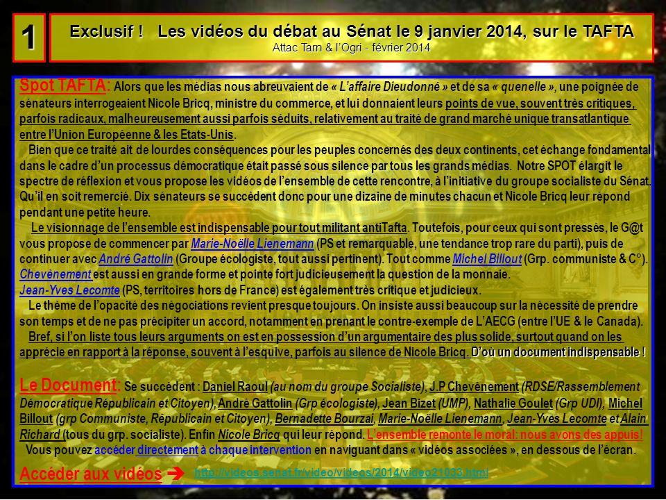 Le Diaporama interactif : Alerte Tafta .