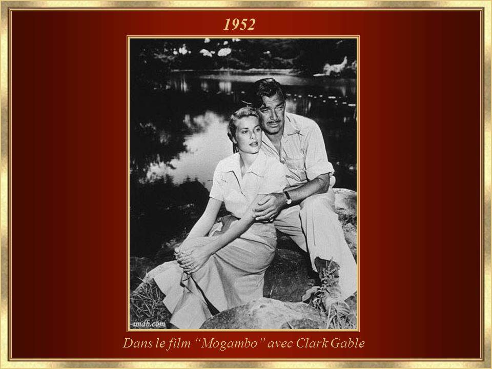 Dans le film Mogambo avec Clark Gable 1952