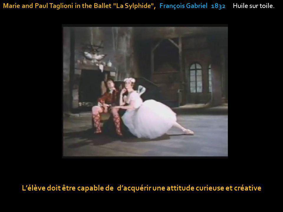 Lélève doit être capable de dacquérir une attitude curieuse et créative Marie and Paul Taglioni in the Ballet