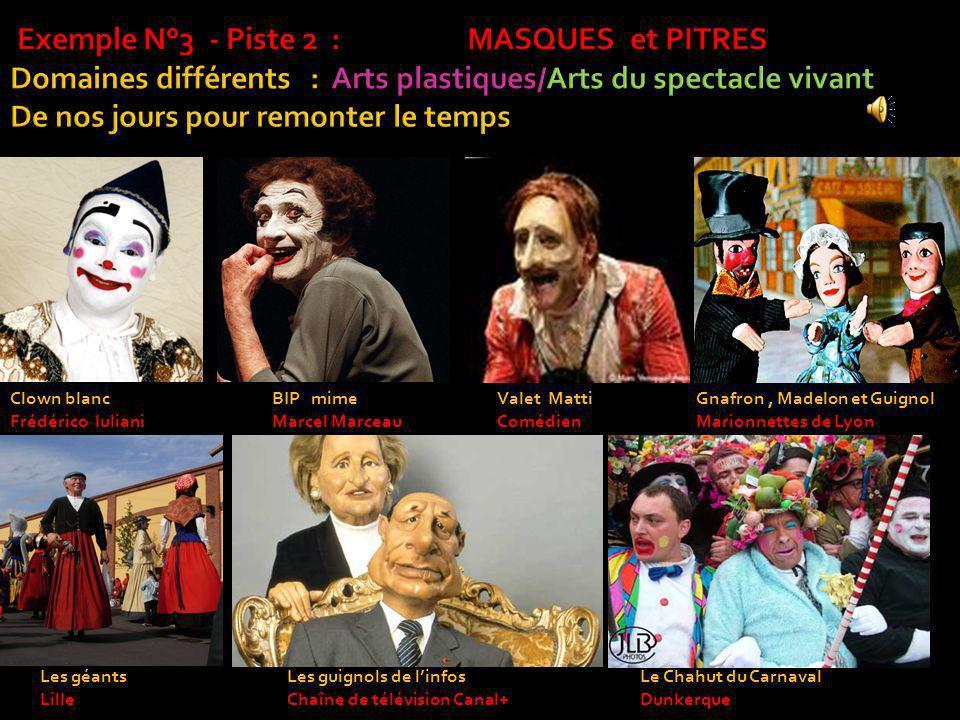 Clown blanc Frédérico Iuliani Valet Matti Comédien BIP mime Marcel Marceau Gnafron, Madelon et Guignol Marionnettes de Lyon Les géants Lille Les guign