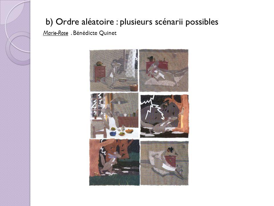 b) Ordre aléatoire : plusieurs scénarii possibles Marie-Rose. Bénédicte Quinet