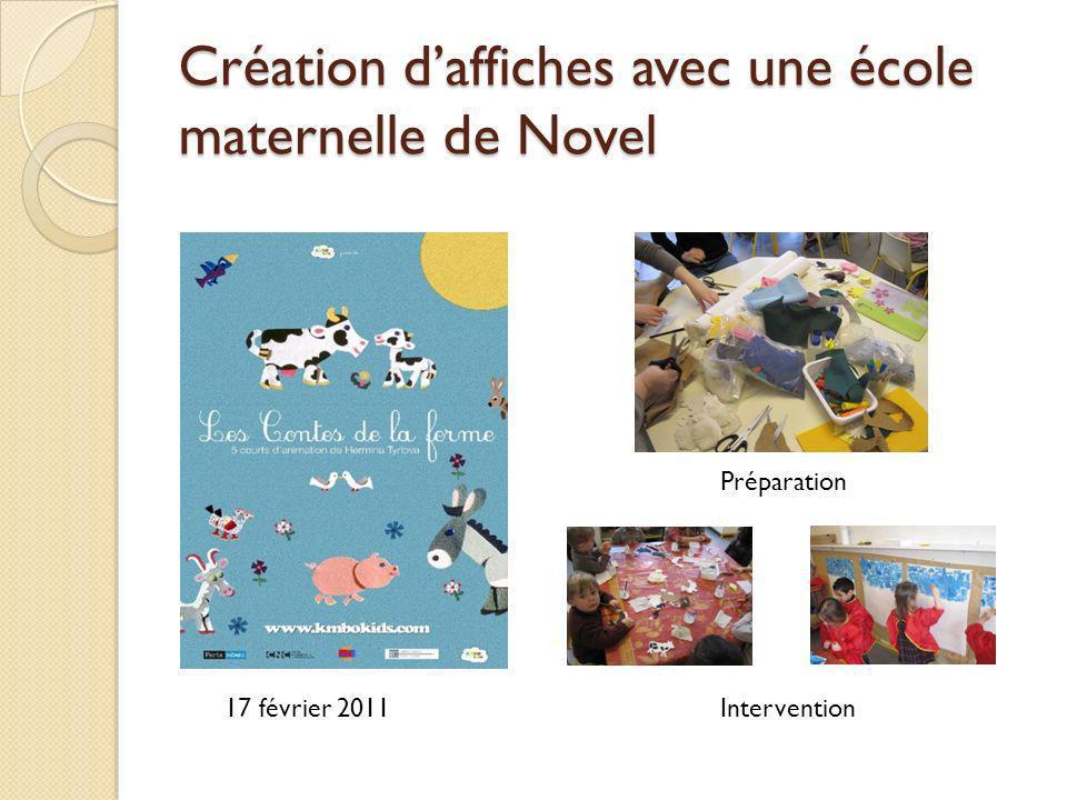 Création daffiches avec une école maternelle de Novel 17 février 2011Intervention Préparation