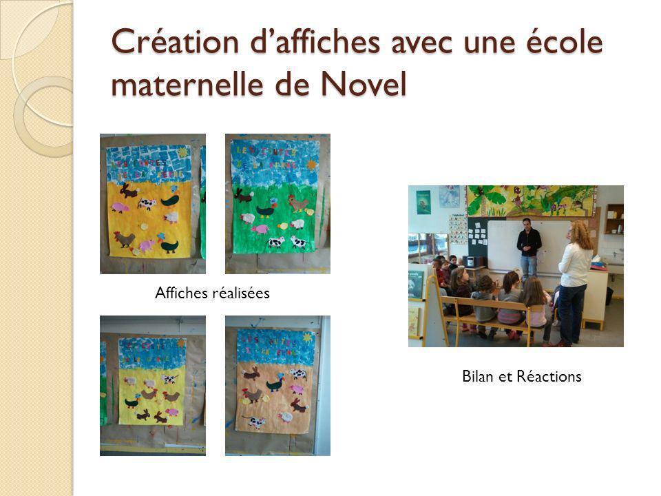 Création daffiches avec une école maternelle de Novel Affiches réalisées Bilan et Réactions