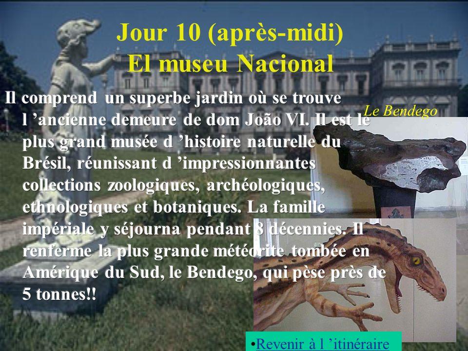 Jour 10 (après-midi) El museu Nacional Le Bendego Revenir à l itinéraire