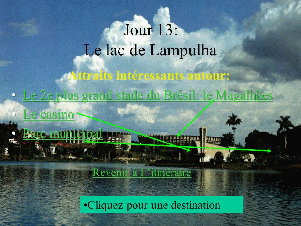 Jour 13: Le lac de Lampulha Cliquez pour une destination Revenir à l itinéraire