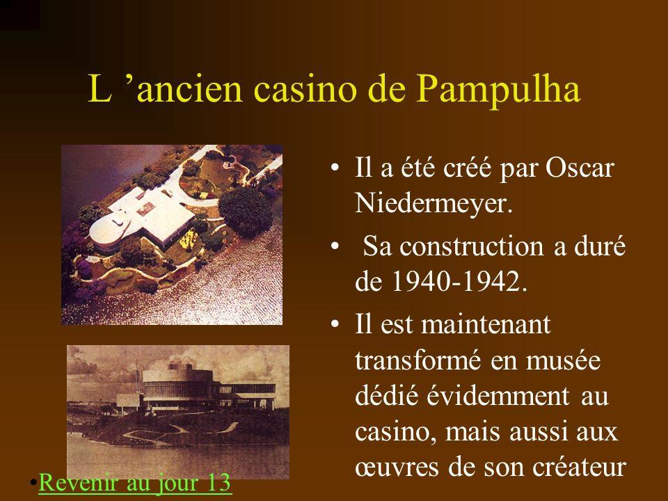 L ancien casino de Pampulha Il a été créé par Oscar Niedermeyer. Sa construction a duré de 1940-1942. Il est maintenant transformé en musée dédié évid