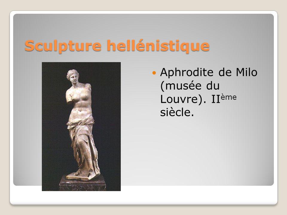 Sculpture hellénistique Aphrodite de Milo (musée du Louvre). II ème siècle.