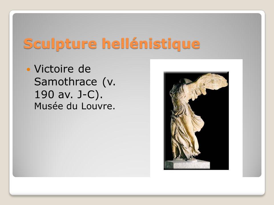 Sculpture hellénistique Victoire de Samothrace (v. 190 av. J-C). Musée du Louvre.