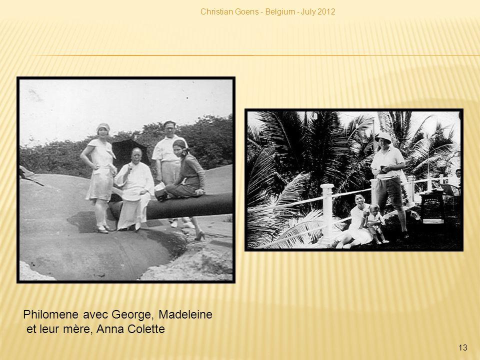 Christian Goens - Belgium - July 2012 13 Philomene avec George, Madeleine et leur mère, Anna Colette