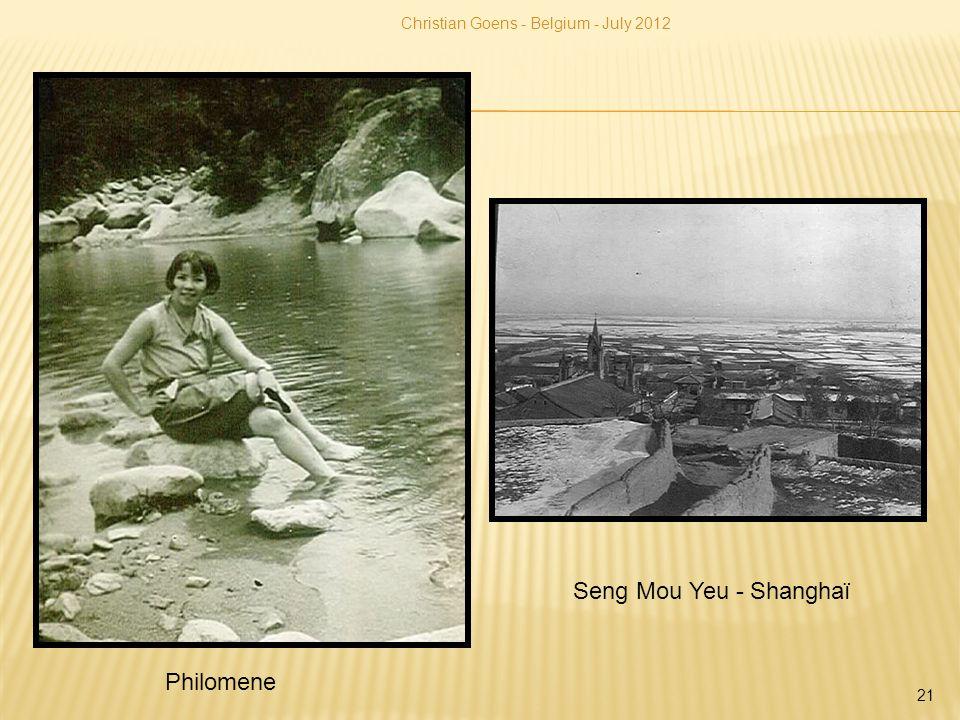 Seng Mou Yeu - Shanghaï Philomene Christian Goens - Belgium - July 2012 21