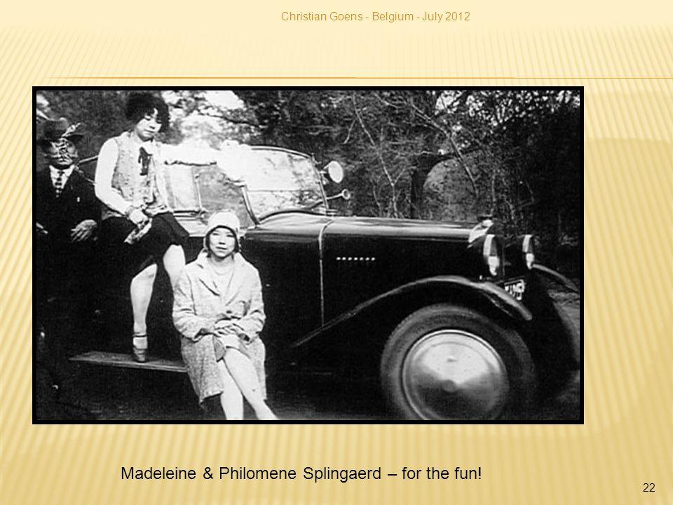 Madeleine & Philomene Splingaerd – for the fun! Christian Goens - Belgium - July 2012 22