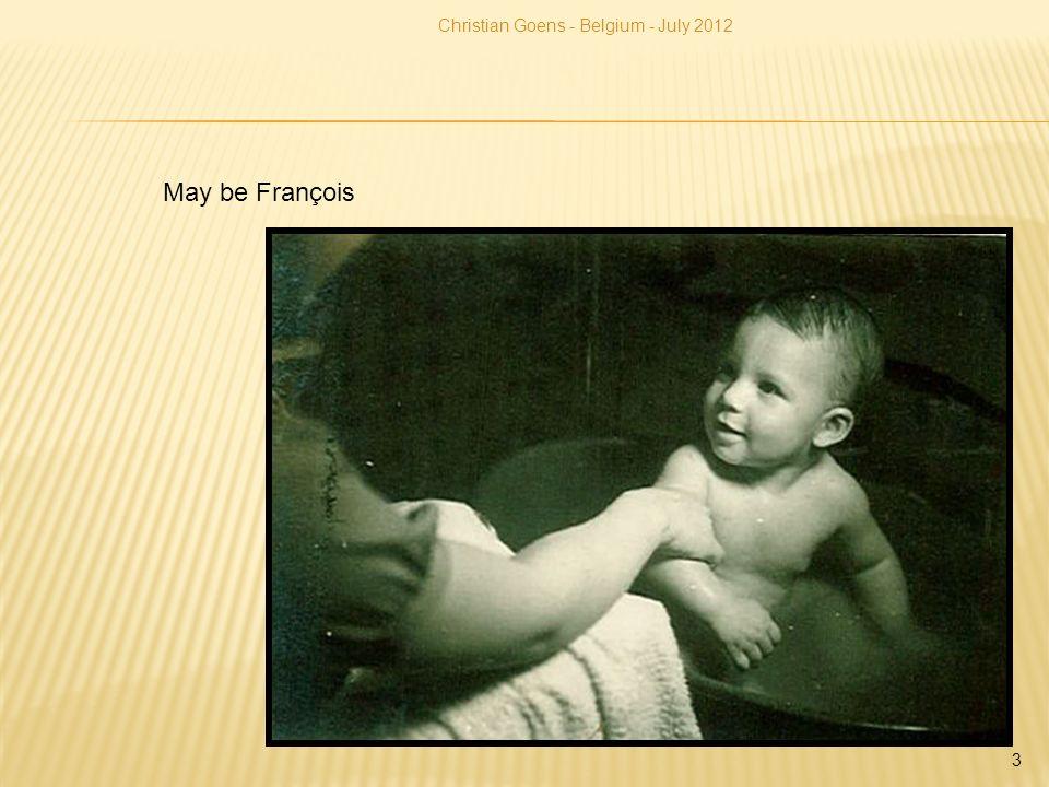Christian Goens - Belgium - July 2012 4 Frank