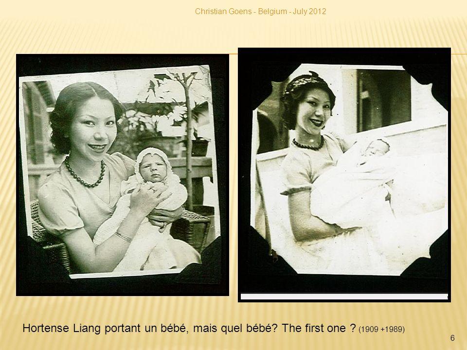 Hortense Liang portant un bébé, mais quel bébé? The first one ? (1909 +1989) Christian Goens - Belgium - July 2012 6