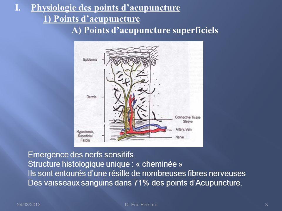 C) Les relais supra-spinaux La plus grande partie des influx nociceptifs passent par les neurones de la cornes dorsale pour aller se projeter sur : - Relais bulbaires (noyau gigantocellulaire et noyau subnucleus reticularis dorsalis) - Relais ponto-mésencéphalique - Relais thalamiques - Relais corticaux 24/03/201314Dr Eric Bernard