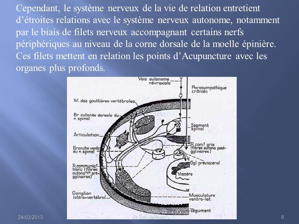 Cependant, le système nerveux de la vie de relation entretient détroites relations avec le système nerveux autonome, notamment par le biais de filets