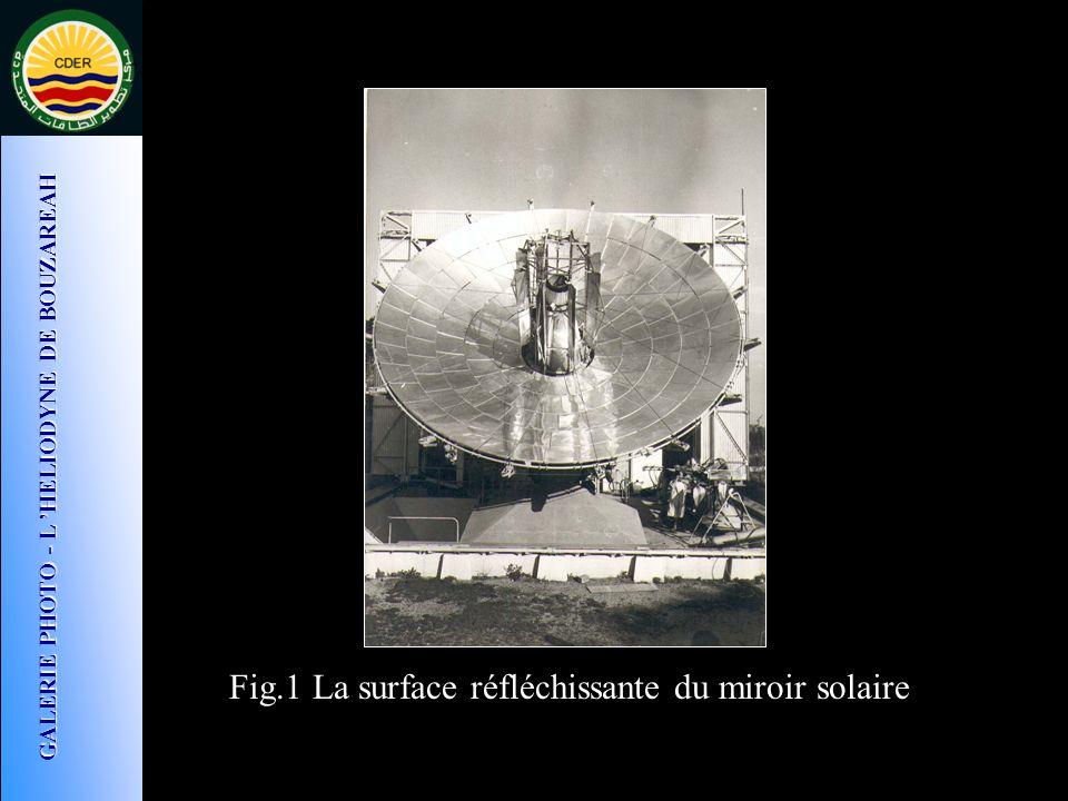 Fig.1 La surface réfléchissante du miroir solaire GALERIE PHOTO - L HELIODYNE DE BOUZAREAH