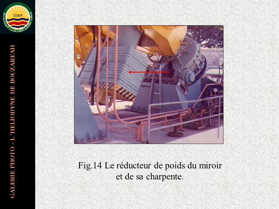 GALERIE PHOTO - L HELIODYNE DE BOUZAREAH Fig.14 Le réducteur de poids du miroir et de sa charpente.