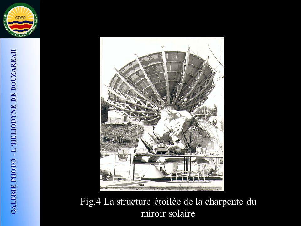 Fig.4 La structure étoilée de la charpente du miroir solaire GALERIE PHOTO - L HELIODYNE DE BOUZAREAH