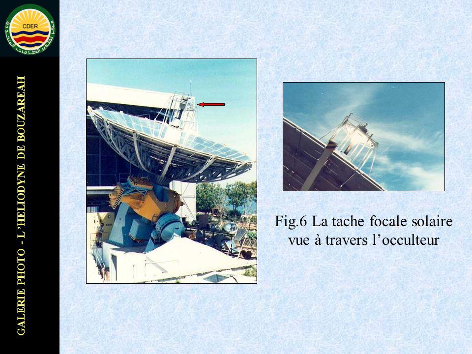 GALERIE PHOTO - L HELIODYNE DE BOUZAREAH Fig.6 La tache focale solaire vue à travers locculteur