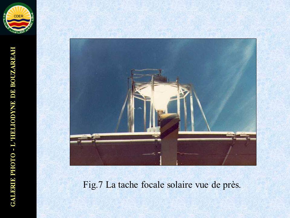 GALERIE PHOTO - L HELIODYNE DE BOUZAREAH Fig.7 La tache focale solaire vue de près.