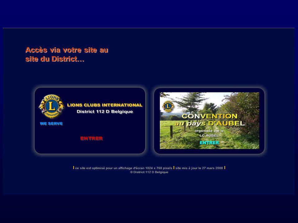 Accès via votre site au site du District…