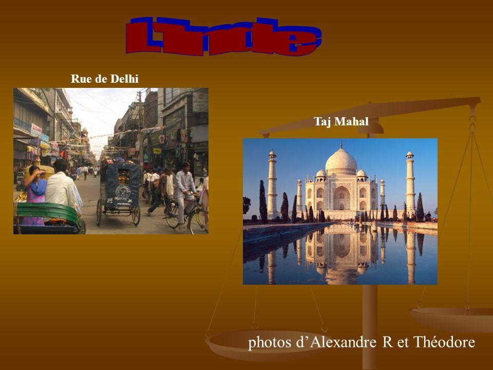 Rue de Delhi Taj Mahal photos dAlexandre R et Théodore