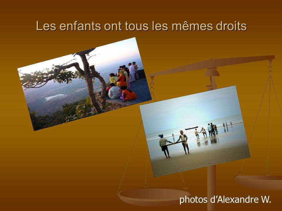 Les enfants ont tous les mêmes droits photos dAlexandre W.