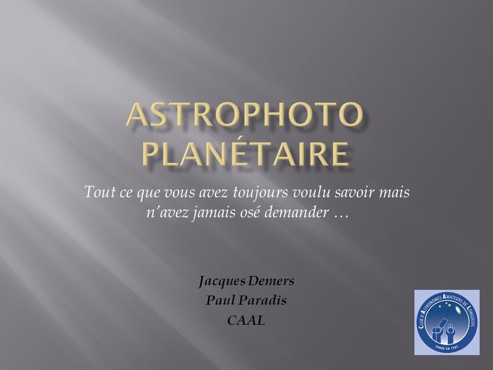 Introduction Matériel Installation du set-up Acquisition des images Références Traitement des images : à toi Jacques !!.
