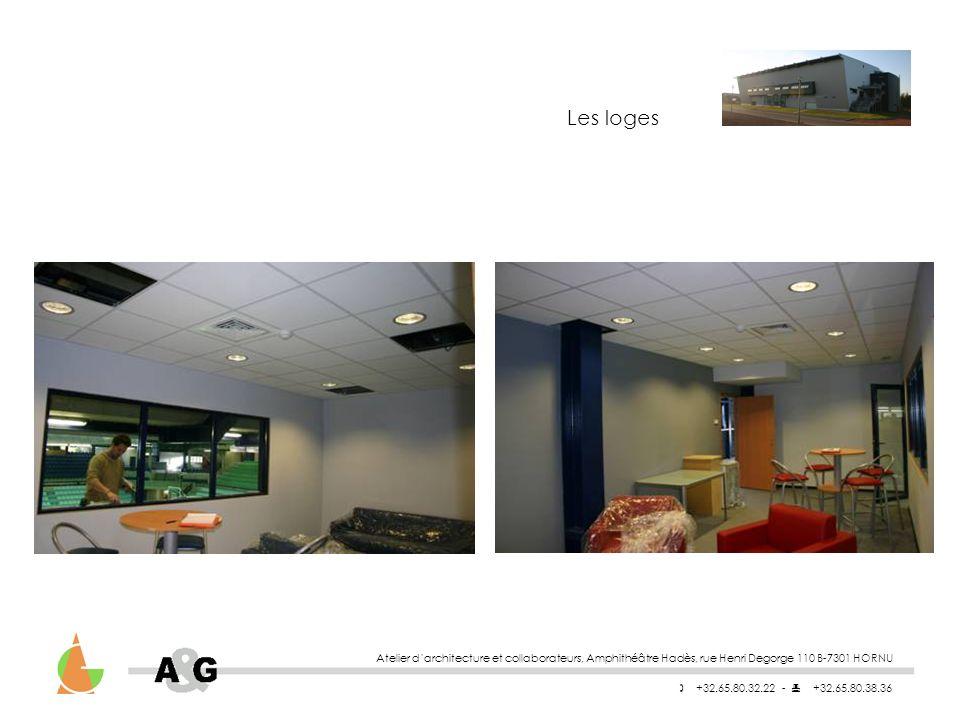 Atelier darchitecture et collaborateurs, Amphithéâtre Hadès, rue Henri Degorge 110 B-7301 HORNU +32.65.80.32.22 - +32.65.80.38.36 Les loges
