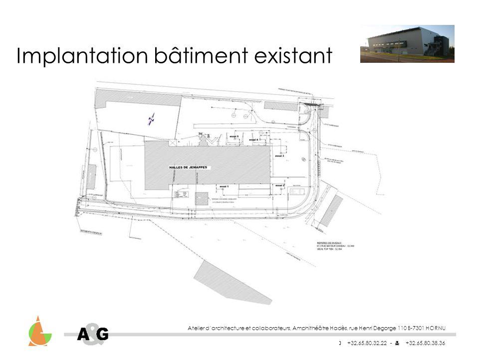 Atelier darchitecture et collaborateurs, Amphithéâtre Hadès, rue Henri Degorge 110 B-7301 HORNU +32.65.80.32.22 - +32.65.80.38.36 Rez bâtiment existant
