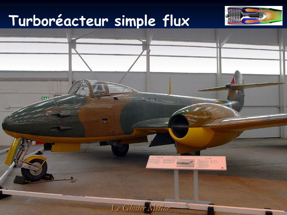 Turboréacteur simple flux à compresseur centrifuge: Le Gloster Météor