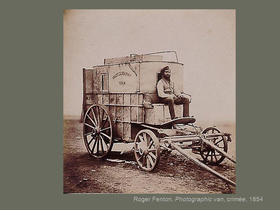 Roger Fenton, Photographic van, crimée, 1854